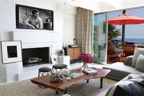 malibu beach house  colorful coastal interior decor