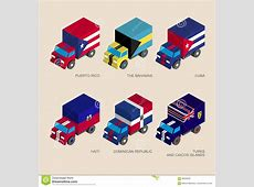 Set Of Isometric 3d Cargo Vector Illustration