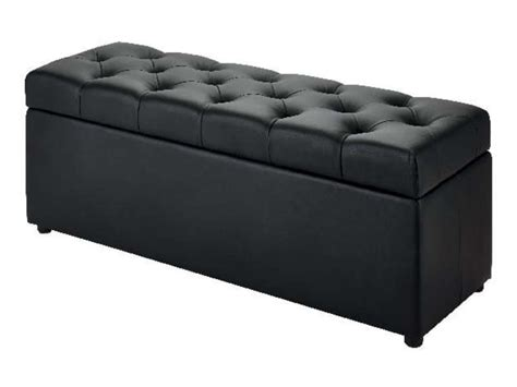 Banc Coffre 120x45 Cm Botai Coloris Noir  Vente De Pouf