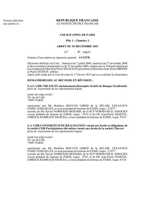 chambre sociale cour d appel arret cour d 39 appel affaire tapie