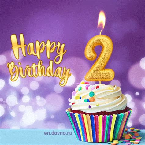 Birthday Card Image 2 by Happy Birthday 2 Years Animated Card On Davno