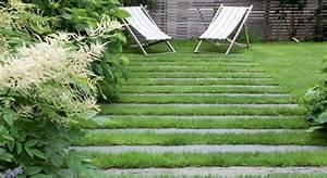 comment choisir des allees en traverse dans son jardin With amenagement d une terrasse exterieure 14 comment poser des dalles en pierre naturelle sur son balcon