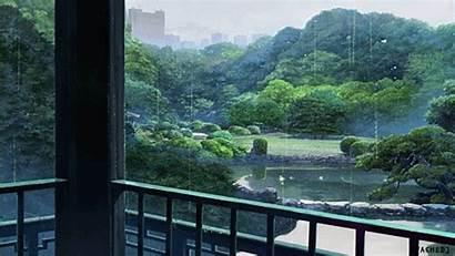 Anime Rain Words Garden Giphy Animated Ojiro