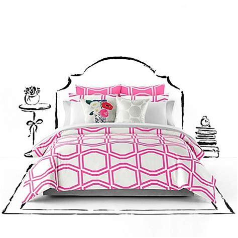 kate spade comforter kate spade new york bow tile duvet cover set bed bath