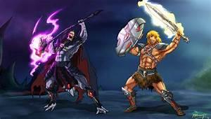 He-man vs Skeletor Anime Style by JazylH on DeviantArt