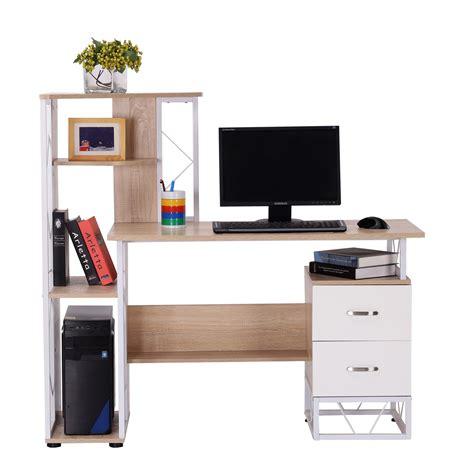 bureau pour pc homcom bureau pour ordinateur table meuble pc informatique