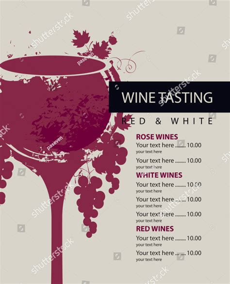 wine menu template  premium psd ai illustrator