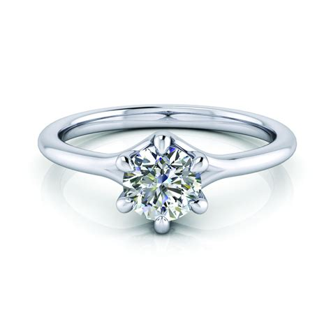 memory classic with solitaire six prong memory jewellery malaysia