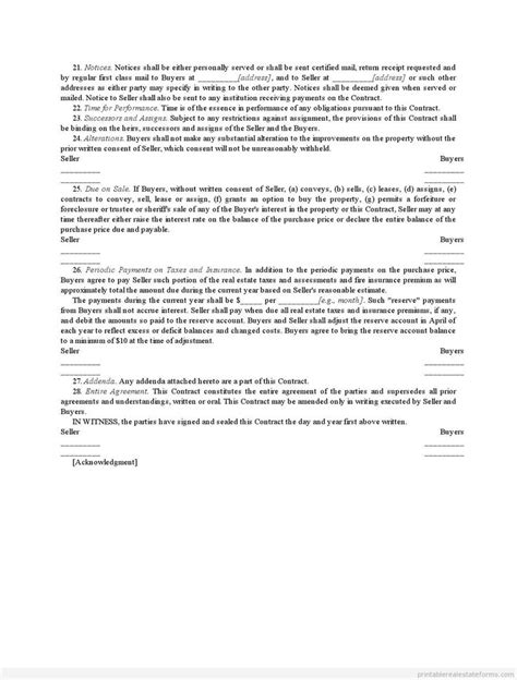 installment land contract form 1000 images about printable template legal form on