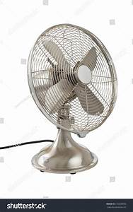 Vintage Oscillating Household Fan  Brushed Silver With