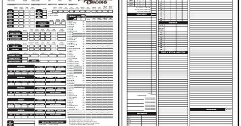 2nd edition character sheet pdf blackmoor s d d 3 0 character sheet standard 1 04 d d