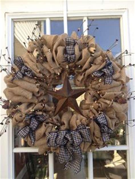 burlap wreath primitive wreath americana wreath