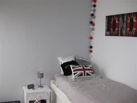 deco chambre ado gris et blanc