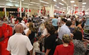 fairfax photos curiosity crowds pour into the new target store at westfield yesterday merc