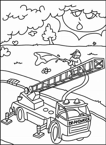 Kebakaran Pemadam Mewarnai Animasi Gambar Bergerak Untuk