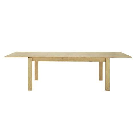 table de salle 224 manger 224 rallonges en bois l 200 cm danube maisons du monde
