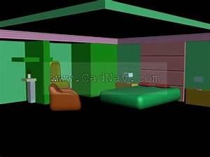 Master Bedroom Space Design 3d Model 3ds Max Files Free Download