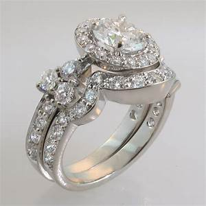 Custom wedding rings bridal sets engagement rings for Wedding bridal ring sets