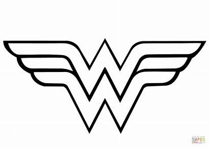 Coloring Wonder Woman Pages Printable Drawing Paper