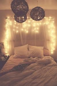 White Christmas Lights In Bedroom
