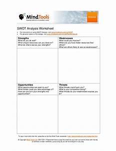 swot analysis worksheet With swot analysis worksheet template