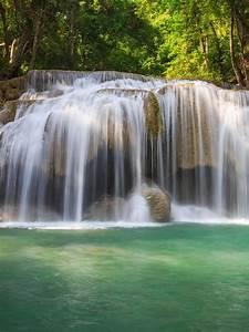 Amazing waterfall and trees wallpaper Retina iPad ...