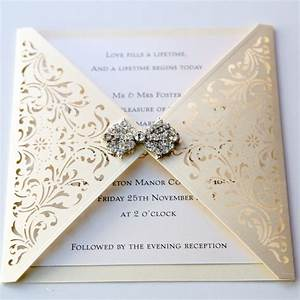 ivory gatefold laser cut wedding invitation vintage With laser cut wedding invitations toronto