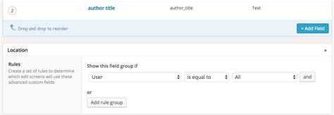 acf display custom field from user profile in a template php how to display an acf field from a user profile