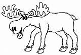 Moose Coloring Pages Elk Cartoon Drawing Printable Bull Clipart Colors Colouring Cliparts Sheets Animal Clip Drawings Cool2bkids Getcolorings Library Getcoloringpages sketch template
