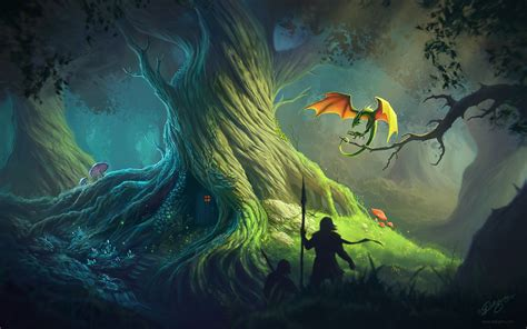 fantasy  tree hd wallpaper mthemes