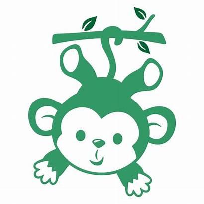Monkey Cuttable Clipart Svg Cricut Silhouette Cut