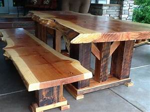 Handmade Redwood Bench Made Of Reclaimed Wood by Toby J'S ...