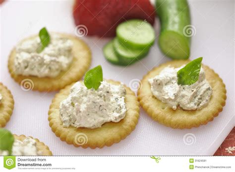 canape biscuit canape stock image image of gourmet cooked food pasley