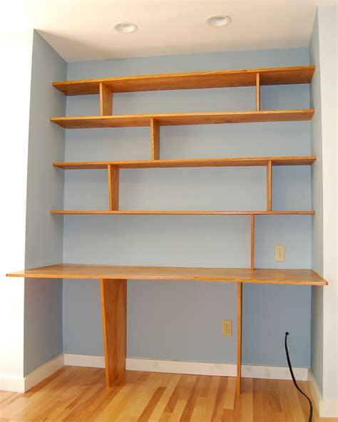 built in desk and bookshelves desk every thing is a shelf