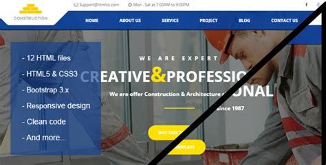 Simple Construction Html Template by Construction Building Html Template By T3theme Themeforest
