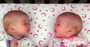 Identical Twin Baby Girls Talk To Each Other