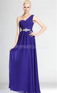 bridesmaid dresses in royal blue a line royal blue chiffon one shoulder floor length with beading bridesmaid dresses ukbd03 497