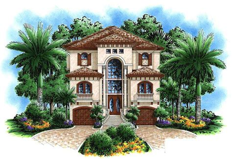 florida style house plan  bedrms  baths  sq ft
