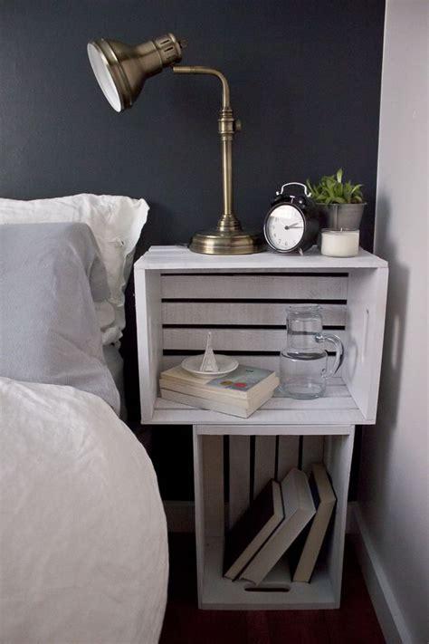 diy bedside pedestals 25 best ideas about crate nightstand on pinterest diy nightstand college bedroom decor and