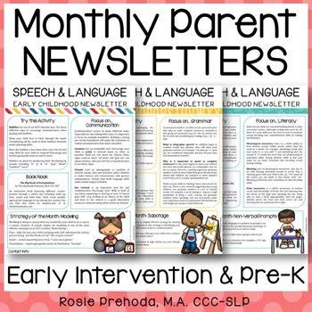 ei preschool monthly speech newsletter  parents