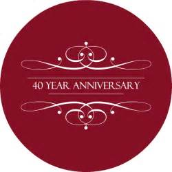 40 year wedding anniversary 40th wedding anniversary invitations the ruby anniversary