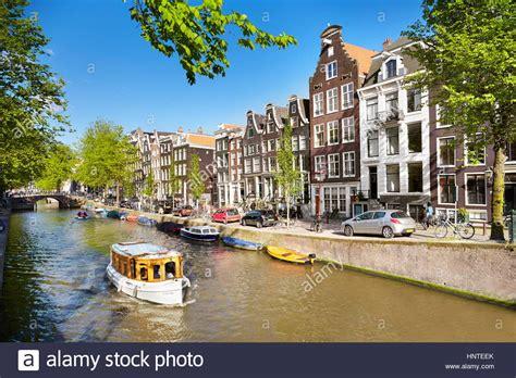 Amsterdam Canals Bridge Typical Dutch Stock Photos