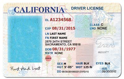 california drivers license template google search