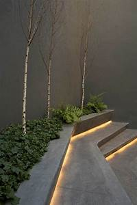 Use led strip lights under the steps and create an