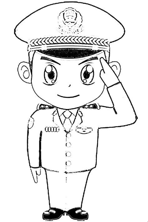 Jual topi bintara field cap polri topi polisi topi polri. 12 Gambar Polisi Hitam Putih   Mewarnai Gambar   IqbalNana