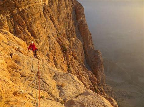 Rock Climbing Jebel Misht Proper Oman