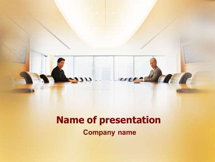 conference hall negotiation powerpoint template