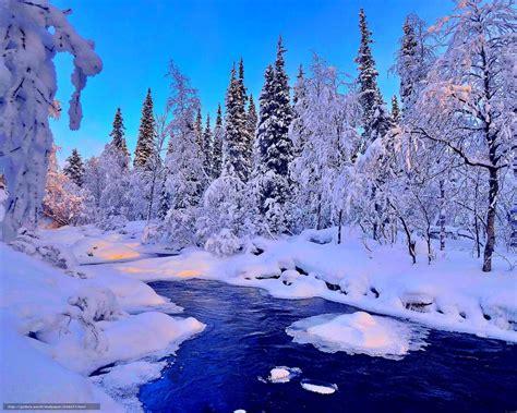 foto de Tlcharger Fond d'ecran hiver rivière neige paysage