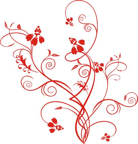 ornamen bunga merah ornament vector