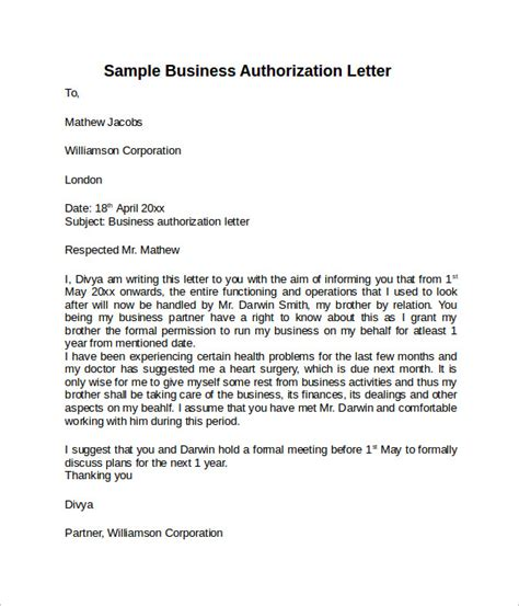 letter  authorization    documents